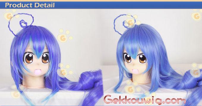 Acchi Kocchi Cosplay Tsumiki Miniwa Blue Straight Wig
