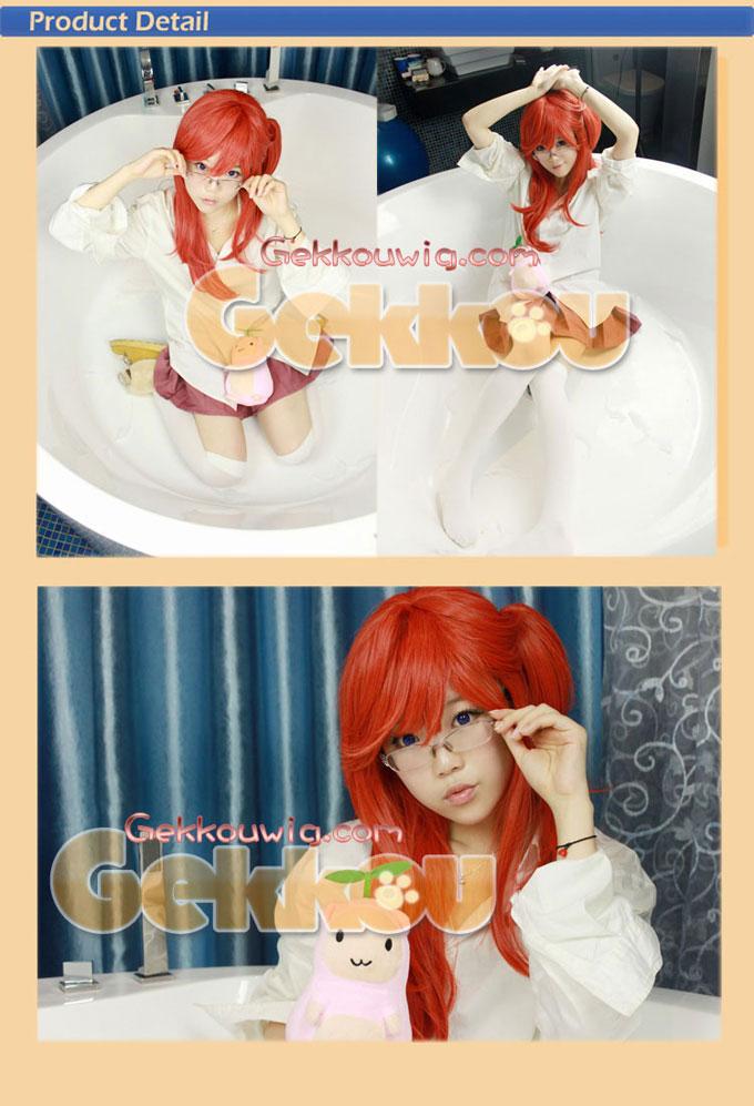 Ano Natsu de Matteru Cosplay Ichika Takatsuki Red Ponytail Wig