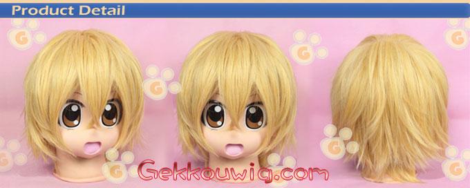 Kaichou wa Maid-sama! Cosplay Usui Takumi Gold Straight Wig