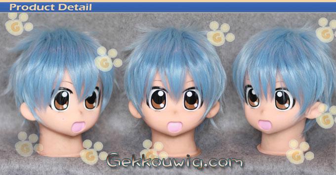 Kuroko's Basketball Cosplay Tetsuya Kuroko Blue Curly Wig