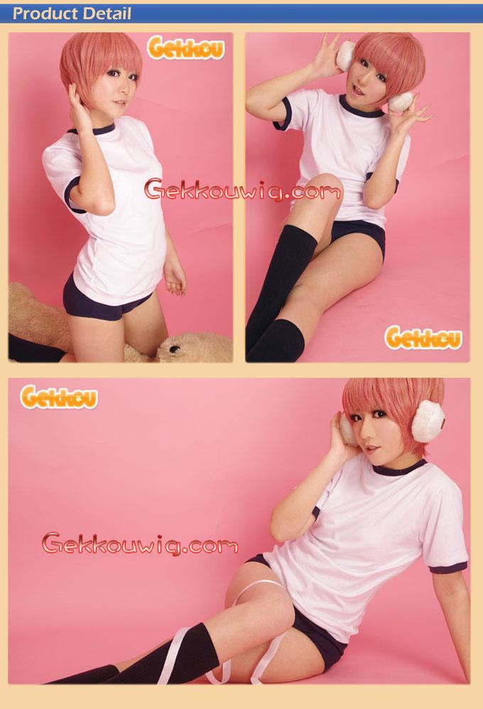 Shangri-La Cosplay Kuniko Houjou Pink Straight Wig