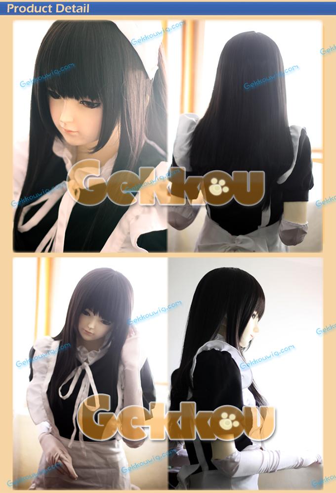 60cm Cute Black Wig