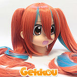 Vocaloid (Mrs.Pumpkin's Comical Dream) Cosplay Miku Hatsune Red Ponytail Wig