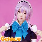 Touhou Project Cosplay Sakuya Izayoi Purple Ponytail Wig