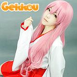Lucky Star Cosplay Miyuki Takara Pink Curly Wig