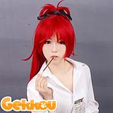 Puella Magi Madoka Magica Cosplay Kyoko Sakura Red Ponytail Wig