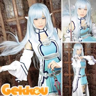 Sword Art Online Fairy Dance Cosplay Asuna Yuuki Costume